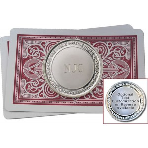 Custom Initials Poker Card Protector