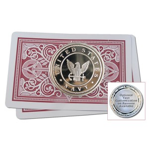Navy Poker Card Protector